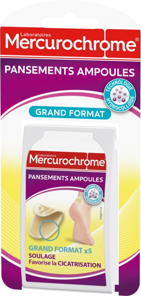 Pansements ampoules grand format   Mercurochrome f299163d48ed