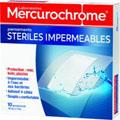 MERCUROCHROME PANSEMENTS STERILES IMPERMEABLES