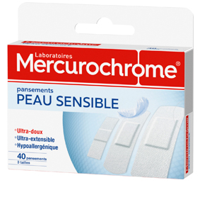 Mercurochrome pansement peau sensible