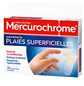 Mercurochrome pansement plaies