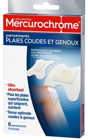 Mercurochrome pansement plaies COUDE-GENOUX