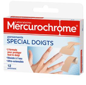 rcurochrome pansement doigts