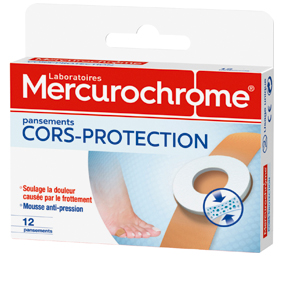 Pansements cors protection mercurochrome for Chausson de piscine pour verrue