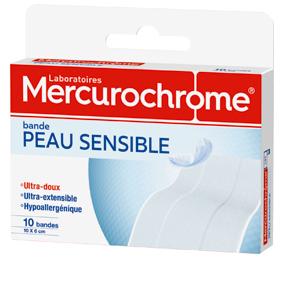 Mercurochrome bande peau sensbile
