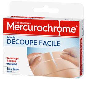 Mercurochrome bande decoupe facile