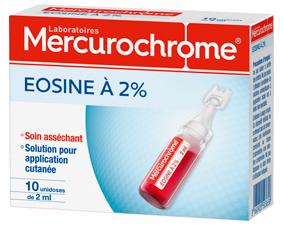Mercurochrome EOSINE unidose