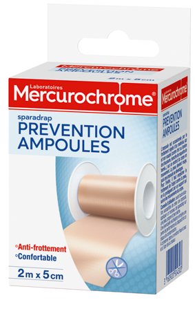 Sparadrap prévention ampoules   Mercurochrome f339b6f55bb5