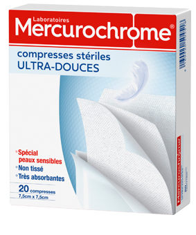 Mercurochrome COMPRESSE stérile ultra douce