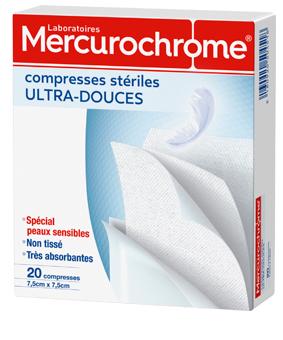 Mercurochrome COMPRESSE stérile ultra douce