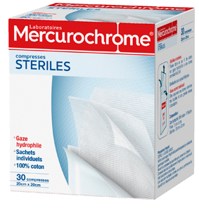 Mercurochorme COMPRESSES-STERILES 30U