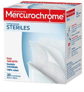 Mercurochorme COMPRESSES-STERILES 30U