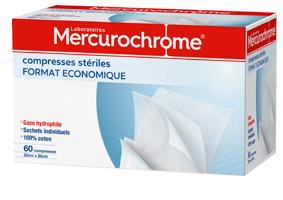 Mercurochorme COMPRESSES-STERILES 60U