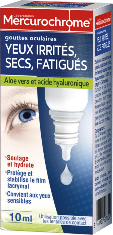 Test De Conduite >> Gouttes oculaires Yeux irrités, secs, fatigués | Mercurochrome